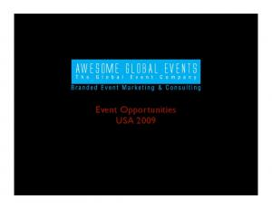 Event Opportunities USA 2009