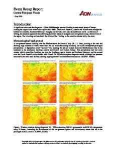 Event Recap Report: Central European Floods