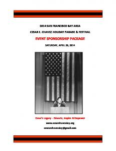 EVENT SPONSORSHIP PACKAGE