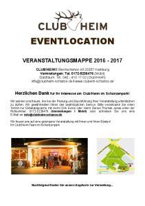 EVENTLOCATION VERANSTALTUNGSMAPPE