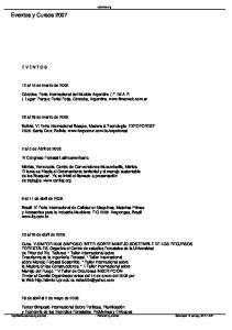 Eventos y Cursos 2007