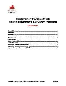 Events. Appendix Appendix Appendix. C: Program. Supplementary