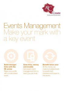 Events Management Make your mark with a key event