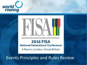 Events Principles and Rules Review