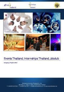 Events Thailand, Internships Thailand, Jobclub