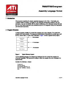 Evergreen. Assembly Language Format. 1 Introduction. 2 Program Structure
