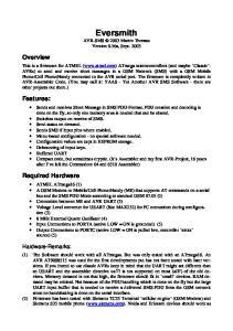 Eversmith AVR-SMS 2003 Martin Thomas Version 0.56a, Sept. 2003