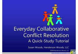 Everyday Collaborative Conflict Resolution