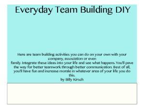 Everyday Team Building DIY