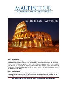 EVERYTHING ITALY TOUR