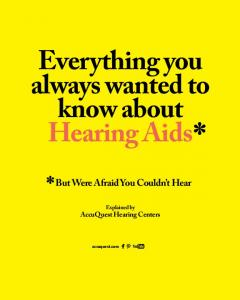 Everything you always wanted to know about Hearing Aids