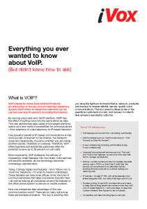 Everything you ever wanted to know about VoIP