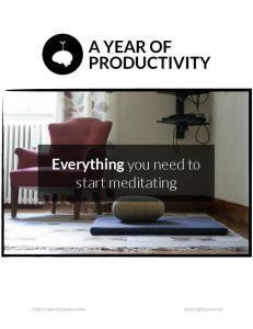 Everything you need to start meditating