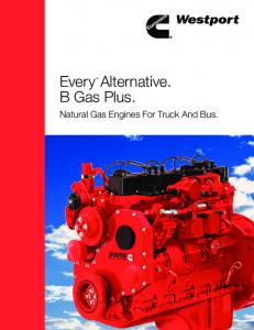 EveryTM. Alternative. B Gas Plus. Natural Gas Engines For Truck And Bus