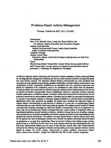 Evidence-Based Asthma Management