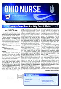 Evidence-Based Practice: Why Does It Matter?
