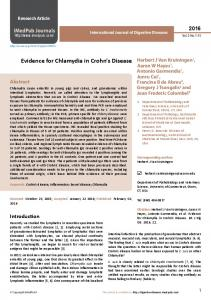 Evidence for Chlamydia in Crohn s Disease