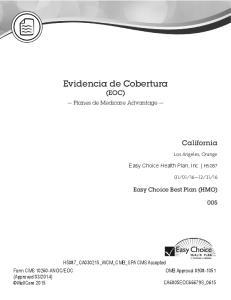Evidencia de Cobertura (EOC)