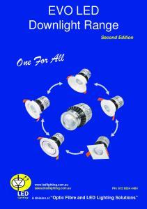 EVO LED Downlight Range