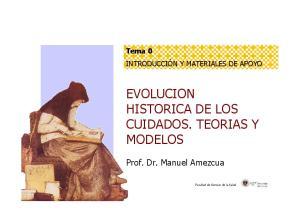 EVOLUCION HISTORICA DE LOS CUIDADOS. TEORIAS Y MODELOS