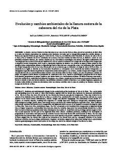 Evolución y cambios ambientales de la llanura costera de la cabecera del río de la Plata