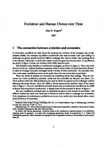 Evolution and Human Choice over Time