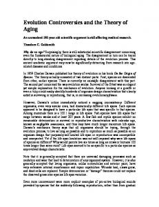 Evolution Controversies and the Theory of Aging
