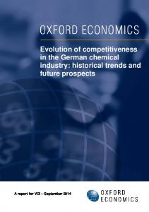 Evolution of competitiveness in the German chemical industry: historical trends and future prospects