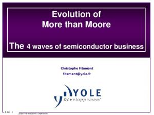 Evolution of More than Moore