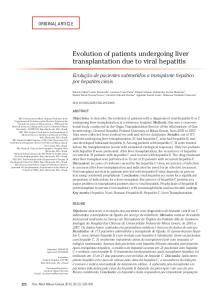 Evolution of patients undergoing liver transplantation due to viral hepatitis