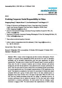 Evolving Corporate Social Responsibility in China