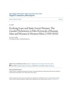 Evolving Ivans and Static Soviet Women: The Gender Dichotomy in Film Portrayals of Russian Men and Women in Western Films ( )