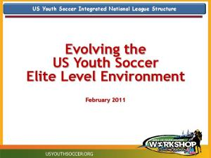 Evolving the US Youth Soccer Elite Level Environment
