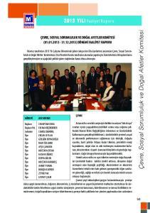 Çevre, Sosyal Sorumluluk ve Doğal Afetler Komitesi