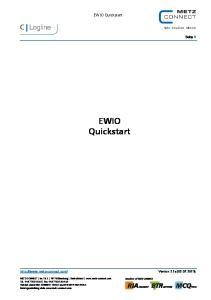 EWIO Quickstart. EWIO Quickstart. Seite 1.  Version 2.1x ( )