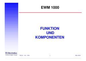 EWM 1000 FUNKTION UND KOMPONENTEN
