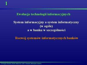 Ewolucja technologii informacyjnych