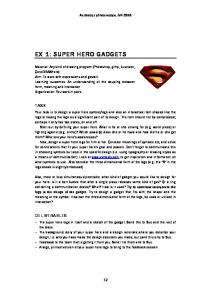 EX 1: SUPER HERO GADGETS