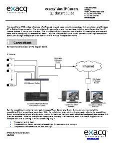 exacqvision IP Camera Quickstart Guide