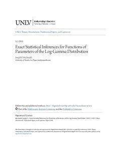 Exact Statistical Inferences for Functions of Parameters of the Log-Gamma Distribution