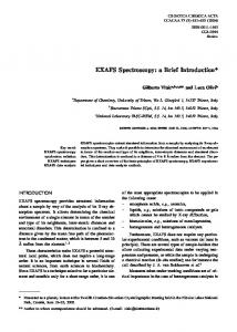 EXAFS Spectroscopy: a Brief Introduction*