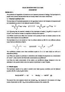 EXAM OF SCIENTIFIC CULTURE CHEMISTRY