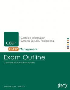 (Exam Outline) Effective Date: April 2013