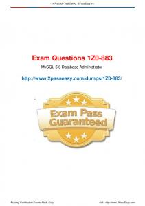 Exam Questions 1Z0-883