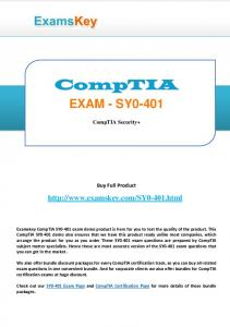 EXAM - SY CompTIA Security+ Buy Full Product