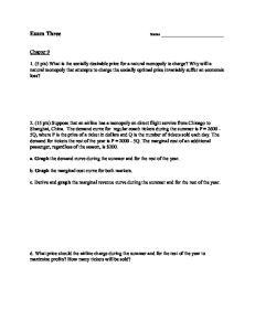 Exam Three. Chapter 9