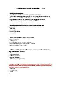 EXAMEN BIOQUIMICA 2014 JUNIO - TIPO 3