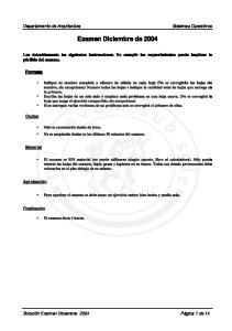 Examen Diciembre de 2004