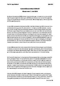 Examensklausurenkurs Zivilrecht Klausur vom 11. Juni 2016