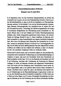 Examensklausurenkurs Zivilrecht Klausur vom 15. Juni 2012